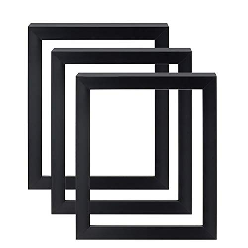 9x12 Gotham Black Stretched Canvas Art Frame - 1-5/8' Deep Open Air Professional Gallery Quality for Paintings Made in USA - Set of 3 Midnight Black Finish - [9' x 12']