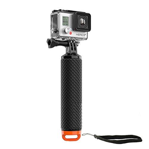 micros2u Wasserdichter, schwimmender Handgriff (Floaty) zum Tauchen. Handgriff ist kompatibel mit Gopro Hero 8, 7, 6, 5, 4, 3, 2 Session + anderen Actionkameras