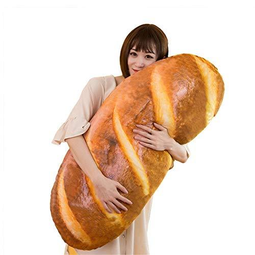 Cojín de peluche suave con forma de pan. Cojín decorativo divertido con alimentos de peluche para niños, para fotografía, fondo, baguette, sofá, espalda, decoración del hogar, 60 cm