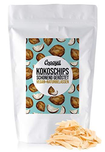 Geröstete Kokosnusschips ohne Zucker, Schonend Geröstet & Knusprig, Naturbelassen & Ohne Zusätze (750g)