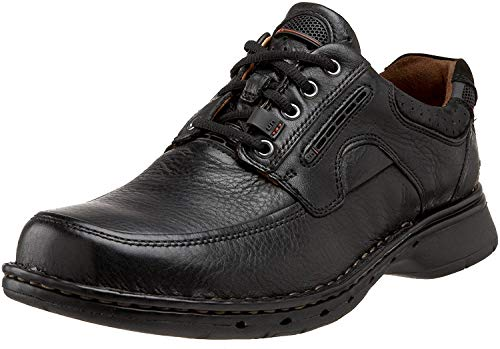 Clarks Un.Bend Mens Black Leather 12-Narrow