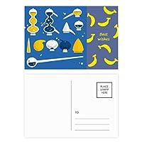 スポイトのゴムのドロッパーの化学 バナナのポストカードセットサンクスカード郵送側20個