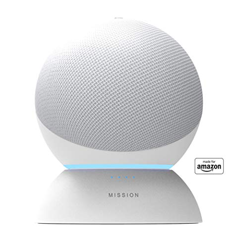 Battery Base in White, for Echo (4th generation). Not compatible with previous generations of Echo or Echo Dot (1st Gen, 2nd Gen, or 3rd Gen).