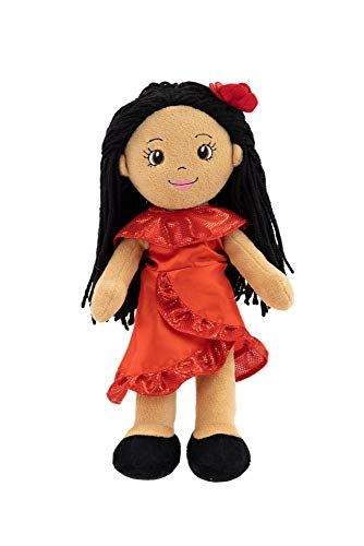 """Playtime by Eimmie Soft Rag Doll - 14"""" First Baby Doll for Kids - Plush Baby Toy - Safe for All Ages (Julie The Salsa Dancer)"""