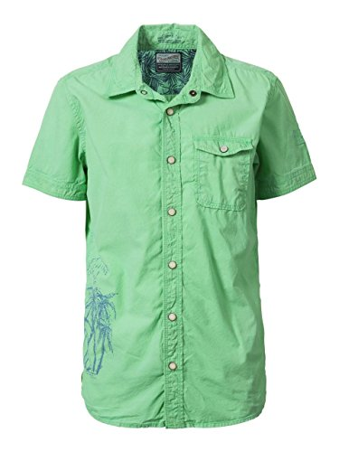 Petrol Industries - Jungen Hemd mit kurzen Ärmeln, grün - B-HS17-SIS476, Größe 176