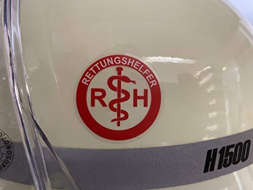 2 Stck Helmaufkleber RETTUNGSHELFER Rettungsdienst Feuerwehr Helmaufkleber