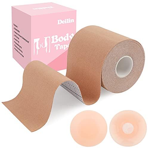 Deilin Boob Tape Breast Lift Tape, 2 Pcs Petal Nipple Cover, Push Up &...