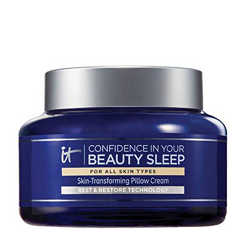 IT Cosmetics Confidence in Your Beauty Sleep - Anti-Aging Night Cream - Visibly Improves Fine Lines, Wrinkles, Dryness, Dullness & Loss of Firmness - With Hyaluronic Acid - 4.06 fl oz