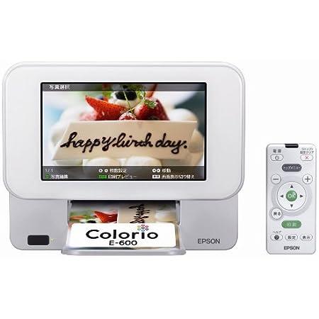 旧モデル エプソン Colorio me コンパクトプリンター E-600 7.0型TFTカラー液晶 デジタルフォトフレーム機能