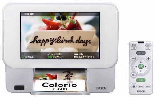 EPSON Colorio me コンパクトプリンター E-600 7.0型TFTカラー液晶 デジタルフォトフレーム機能