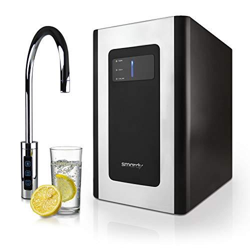 smardy blue Soda & Cool Wassersprudler für 2kg CO2 Flaschen mit 2 Stufen Ultrafiltration für stilles, gekühltes, spritziges Sprudelwasser