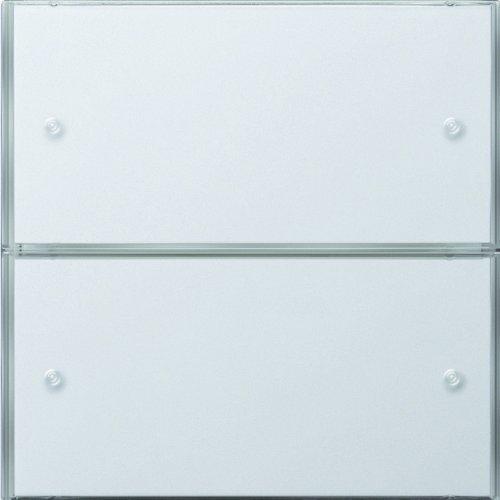 Gira 2032112 KNX Tastsensor 3 Komfort 2-Fach Flächenschalter, reinweiß