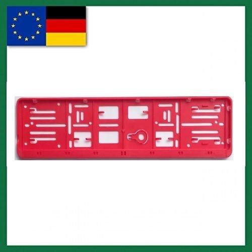 Farbe-EU-NORM-110X520-Deutschland 1 Set, und alle Normländer-W-Kennzeichenrahmen, für 1 KFZ. rot