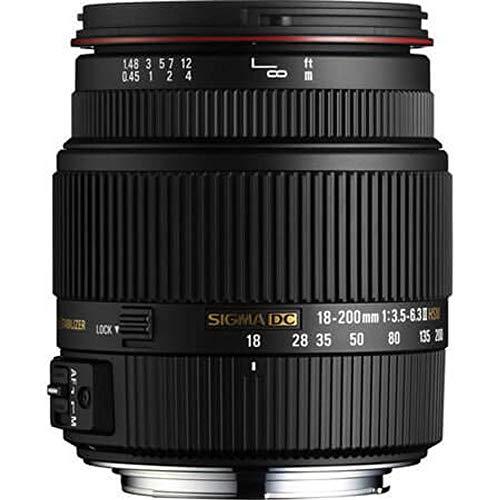 Sigma 18-200 mm F3,5-6,3 II DC OS HSM-Objektiv (62 mm Filterdurchmesser) für Canon Objektivbajonett