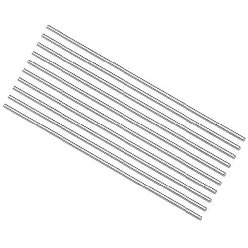 YUQIYU HSS Torno Ronda barra maciza Eje Bar 1,8 mm Diámetro 100 mm de longitud 10Pcs