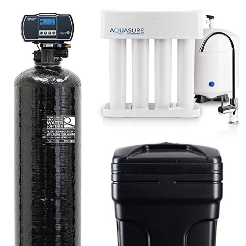 Aquasure Whole House Water Softener/Reverse Osmosis Drinking Water Filter Bundle (48,000 Grains)