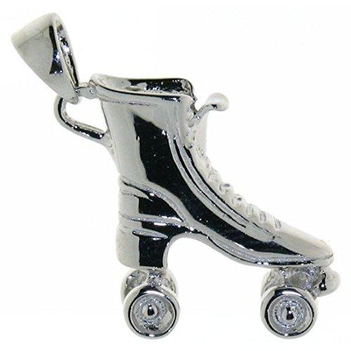 Derby Anhänger Rollschuh Rollerblade massiv echt Silber 23192