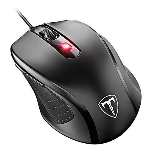 VicTsing Ratón con Cable,4 dpi Adjustable(1000/1600/2400/3200), 6 Botónes, para Oficina, Gaming, PC, Ordenador, Computadora y Portáti