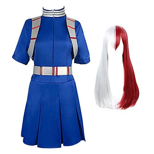 yinYSR My Hero Academia Todoroki Shoto Cosplay disfraz vestido uniforme con cinturón trajes de Halloween conjunto completo para mujeres