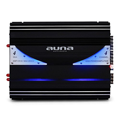 Auna AMP-CH04 Urban Edition - Amplificador para Coche HiFi,