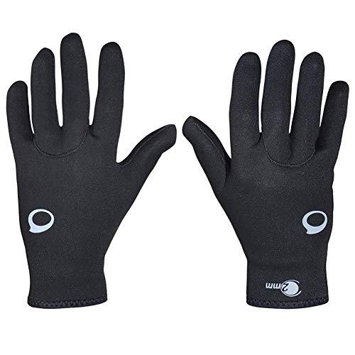 Ruber Guantes de buceo para hombre, neopreno con cinco dedos, impermeable, guantes de pala, scuba, niños mujeres, surf, piragüismo, antideslizante, flexible, negro, XS