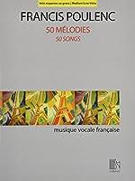 50 Melodies 50 Songs: Voix moyenne ou grave / Medium/Low Voice