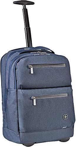 WENGER CityPatrol zaino con rotelle per PC portatile da 16 pollici, tablet da 12 pollici, 24 l, da donna, uomo, per lavoro, università, scuola, viaggi, blu navy