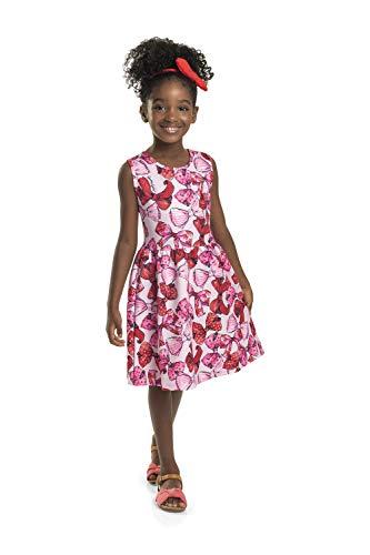 Vestido Infantil em Malha Jacquard Quimby Feminino, Rosa, 02