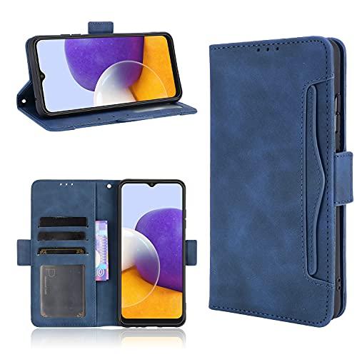 Funda para Huawei P50 Pro, PU Flip Billetera Carcasa Magnética PU Cuero/TPU Silicona FILP Case con Soporte/Tapa Tarjetas Cover para Huawei P50 Pro, Azul
