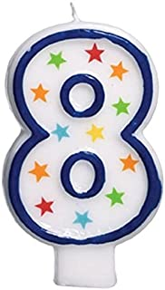 amscan #8 Flat Molded Candle  Birthday  Anniversary