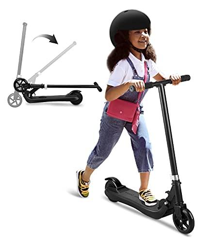 Riding'times - Patinete eléctrico para niños, plegable, velocidad de hasta 6 km/h,...