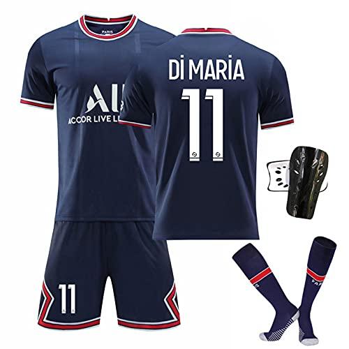 GYLMXF Jersey Traje Camiseta Shorts Calcetines Camisetas de Entrenamiento Camiseta de fútbol de Local Mbappé 7# / Neymar 10# Camisetas de fútbol Niños Adult