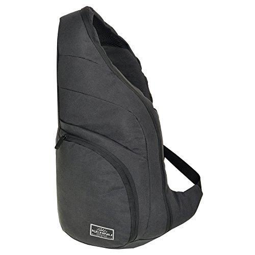 DURCHDACHTER Eingurtrucksack mit Tablet-Fach und Organizerfach - Diebstahlschutz - Bodybag KEANU :: Sling Bag Rucksack für Outdoor Radfahren Wandern Reise Daypack Cross Bag (Dunkelgrau)