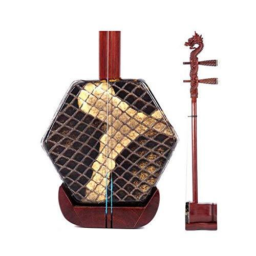 Erhu, Palisander Erhu, Erwachsene Professionelle Leistung Erhu, reine handgemachte Sechs-Parteien-Erhu, nationale Musikinstrument, Geschenk-Box mit Rosin Begleit Hard Case (Größe: 81 * 13cm) DUZG