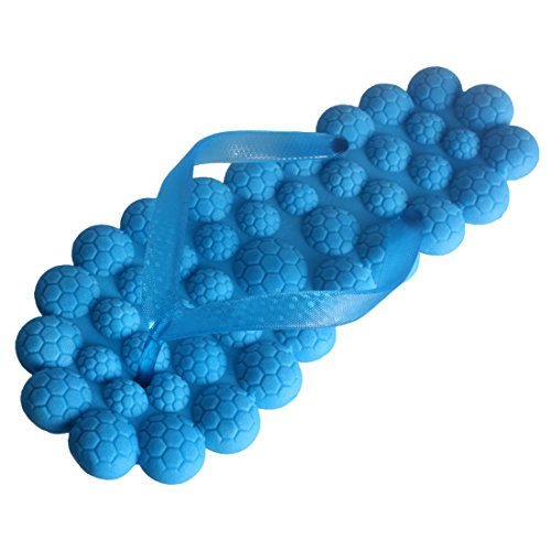 Andux Femmes Massage Tongs Pantoufles Sandale ménages AMRZT-01 (Bleu, 40)