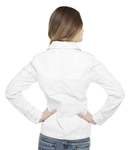 SOCCX Damen Jacke aus strukturierter Baumwolle