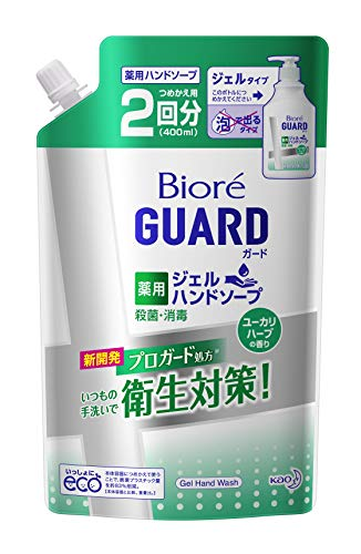 ビオレガード 薬用ジェルハンドソープ ユーカリハーブの香り 400ml 詰め替え用