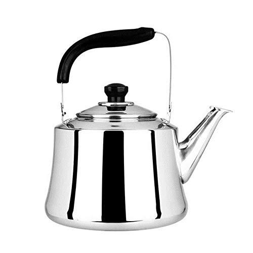 Théière Camping Kettle, 304 Bouilloire en Acier Inoxydable Eau à gaz Cuisinière à gaz café Maison Cuisine Infusion Goose Neck Teapot 3L (Color : Stainless Steel, Size : 3.5l)