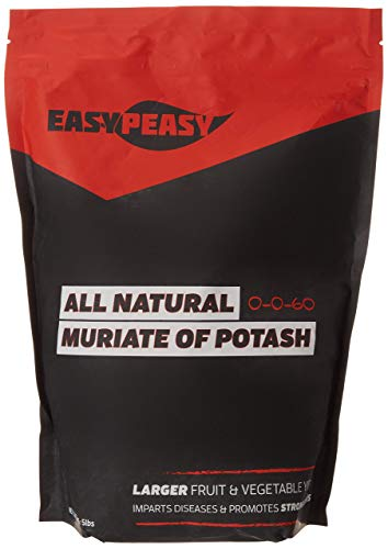 Easy Peasy Plants All-Natural Muriate of Potash Granules - Potassium Fertilizer for Gardens, Lawns, and Trees (5lb Bag)'Packaging May Vary'