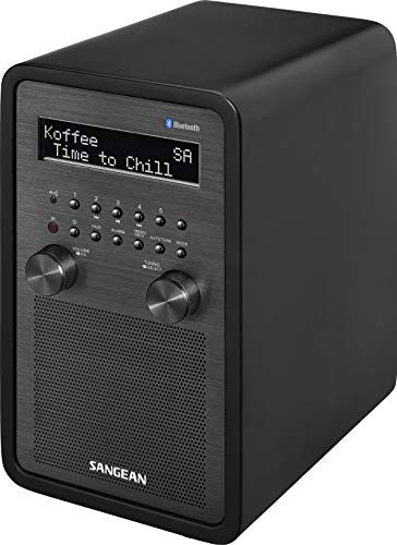 Sangean DDR-60BT Digitalradio (DAB+, UKW-RDS, Bluetooth, AUX-In, Lautsprecheranschluss) Mattschwarz