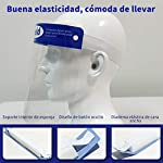 Pantalla Protección Facial - 10 Pcs Protector Facial de Seguridad, Cómoda, Visera Ajustable, Reutili... #3