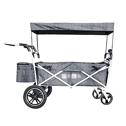 Z-SEAT Handwagen-Travel Home Einkaufswagen Kinderwagen im Freien Wohnwagen zusammenklappbar Tragbarer Campinganhänger Gepäckwagen