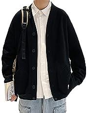 メンズ カーディガン トレーナー スウェット ゆったり パーカー ジャケット アウター 厚手 ビジネス 大きいサイズ 長袖 無地 裏起毛 暖かい ニット 秋冬服 カジュアル 男女兼用