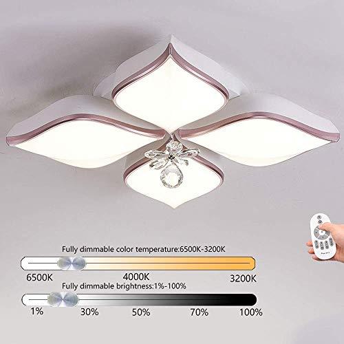 LED Deckenleuchte Dimmbar, Acryl Deckenlampe /Wandleuchten/ Ultradünnes modernes LED-Licht für Wohnzimmerleuchten Schlafzimmerleuchten Arbeitszimmer Deckenleuchte Lampe, Stepless dimming 62CM