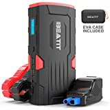 BEATIT 800A 18000mAh Portable Car Jump Starter(Up to 7.5L Gas and 5.5L Diesel) 12V Jump Box Portable Power Bank Auto Battery Booster with Intelligent Jumper Cables