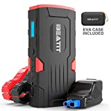 BEATIT LJ-D11 Large QDSP 800Amp 18000mAh Peak 12V Car Jump Starter (Up to 7.5L Gas and 5.5L Diesel) Portable Power Bank Auto Battery Booster with Intelligent Jumper Cables, 12. Cubic_inches