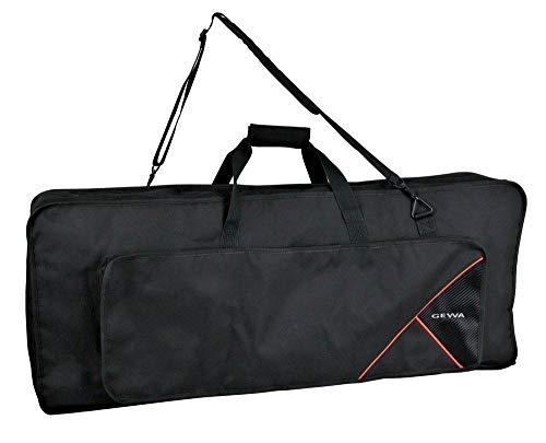 Keyboard Gig Bag Premium, 108x45x18 cm, mit Notentasche, schwarz, reiß- und wasserfest