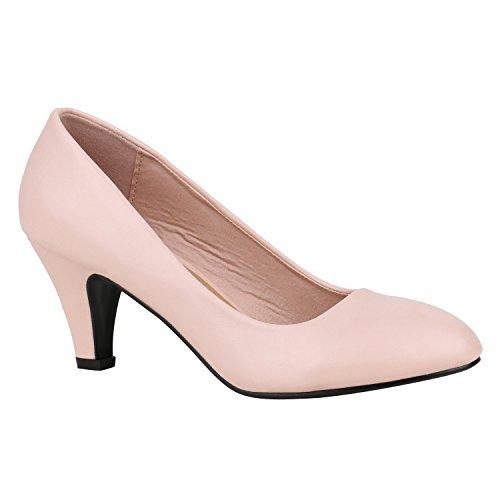 Klassische Damen Pumps Strass Glitzer Party Metallic Stilettos Absatz Abend Lack Schuhe 142286 Apricot Glatt 39 Flandell