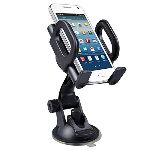 Maclean MC-659 - Soporte de coche para móvil, smaprtphone o navegador Montaje con ventosa en cristal o salpicadero