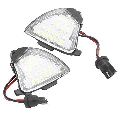 Qiilu Ala de luz de espejo retrovisor, 2 uds luz LED de espejo retrovisor 6000K IP67 lámpara impermeable apta para EOS/Rabbit / R32 / MK3